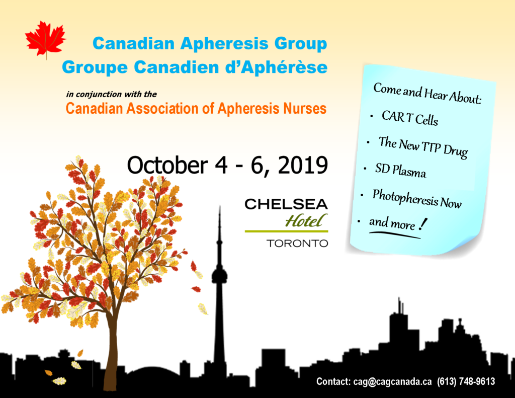 CAG Annual General Meeting Toronto October 4 - 6 2019