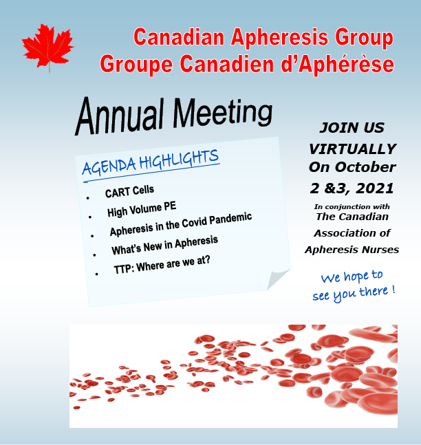 the canadian apheresis group welcome